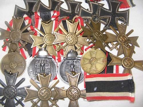 Some Third Reich awards from vet estates (autumn 2012)