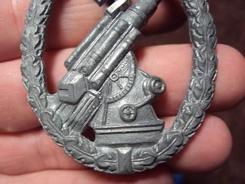 Luftwaffe flak badge - flak-kampfabzeichen