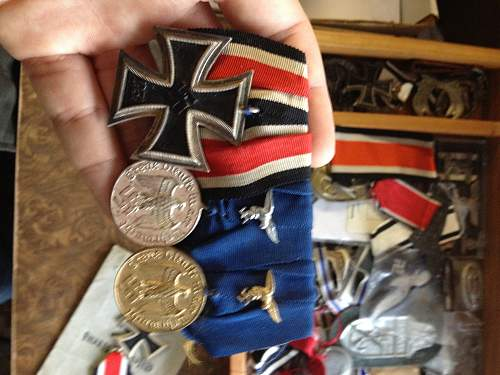 Bunch of medals offered to me