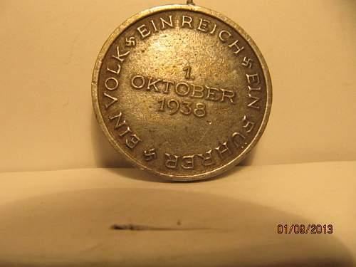Medaille zur Erinnerung an den 1. Oktober 1938 real or fake lot 2