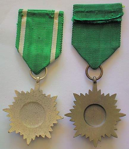 Ostvolkmedaille 2er Klasse in Silber -