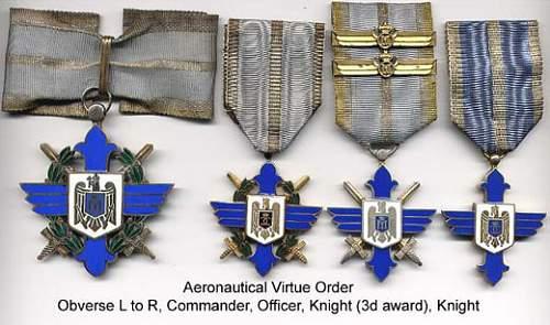 Romanian Order of Aeronautical Virtue