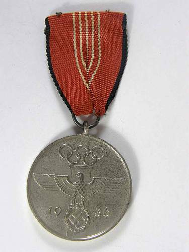 Third Reich Olympics Medal: Olympia Erinnerungsmedaille