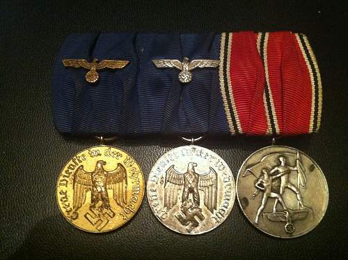my new trio german medals