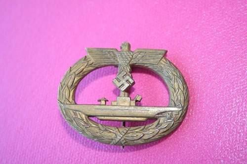 U-Boots Kriegsabzeichen Good or Bad?