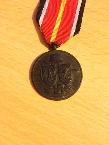 My new Blauen Division medal.