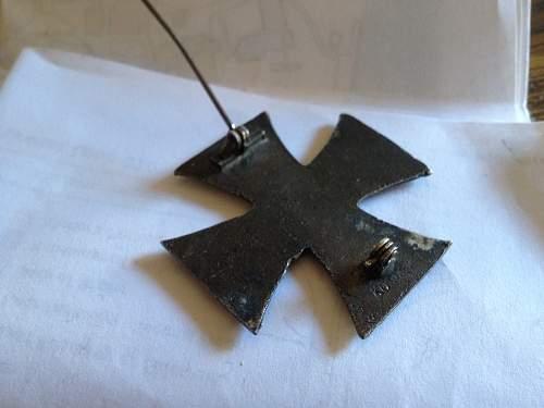 German Merit medal and WWI iron crosses