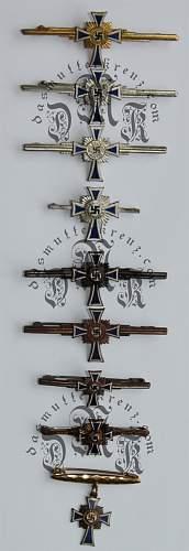 Ehrenkreuz der deutschen mutter spange