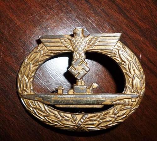 U-Boots Kriegsabzeichen - good one?