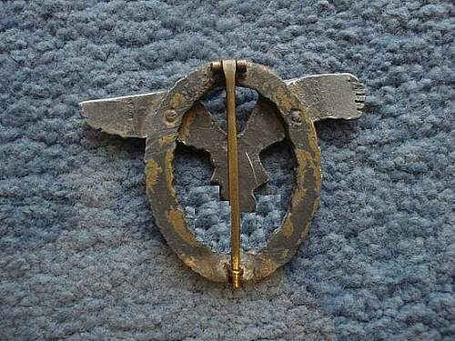 Flugzeugführerabzeichen.