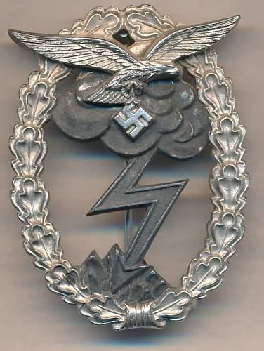 Erdkampfabzeichen der Luftwaffe  Unmarked