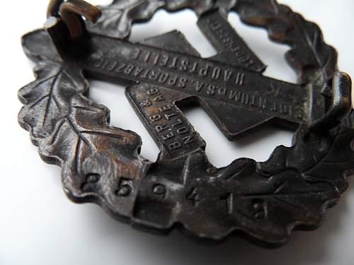 SA Sportabzeichen Bronze