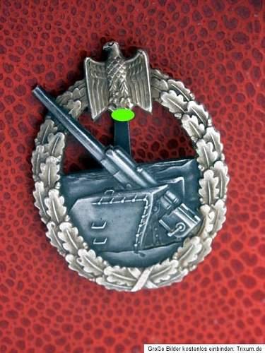 Kriegsabzeichen Marine-Artillerie Original or Fake?