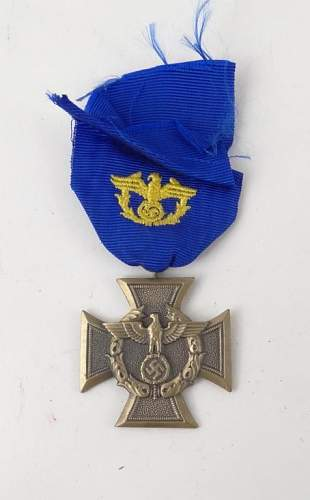 Opinions Please- Customs Long Service, Police Long Service, Gold Bullion Shoulder Patch