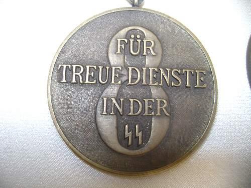 SS-Dienstauszeichnung - 4 Jahre and 8 Jahre.