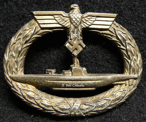 U-boot Kriegsabzeichen, C.E. Junker