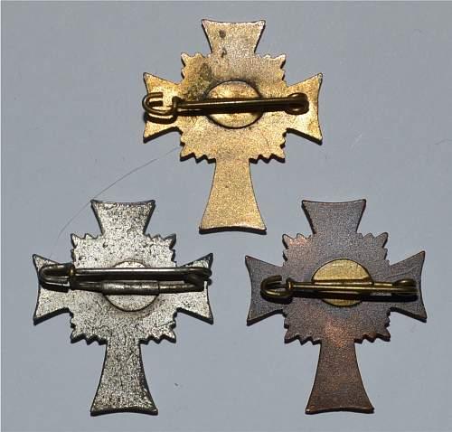 Mutterkreuz - small, medium and large.