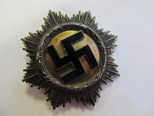 Deutsche Kreuz in Silber.