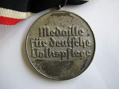 Volkspflege medal