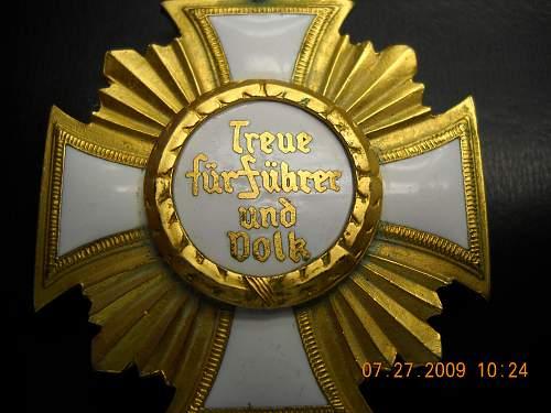 Click image for larger version.  Name:NSDAP 25 Yr Service Medal Detail - Back.jpg Views:208 Size:237.0 KB ID:48599