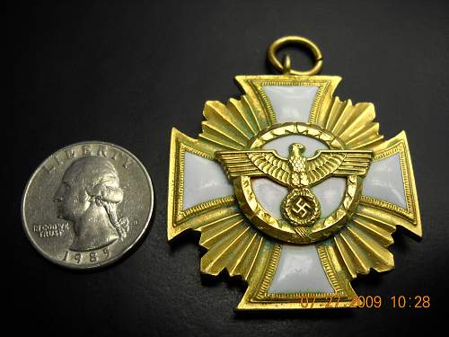 Click image for larger version.  Name:NSDAP 25 Yr Service Medal Size comparison.jpg Views:180 Size:235.6 KB ID:48600