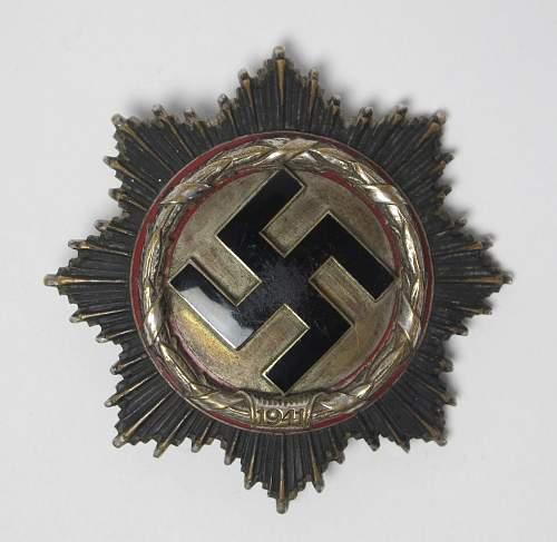 Deutsche Kreuz in Gold opinions please?