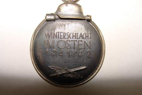 Ostfront Medaille Hard Metal New for Collection