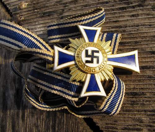 Gold Mutterkreuz (Mother's Cross) Opinions Needed Please