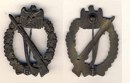 De-Nazified combat badges: Original?