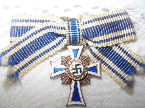 Mutterkreuz in Silver - miniature L13 marked