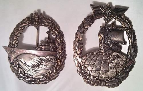 Kriegsmarine abzeichen