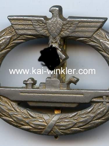 U-Boot Kriegsabzeichen l/56 real?