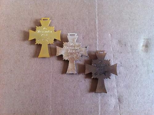 Mutterkreuz Silver Bronce Gold