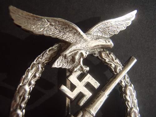 Flakkampfabzeichen der Luftwaffe.