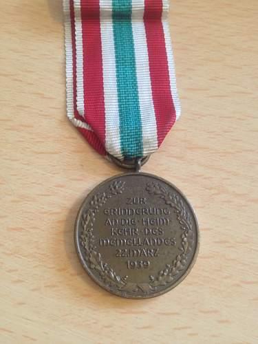 Medaille zur Erinnerung an die Heimkehr des Memellandes opinions.
