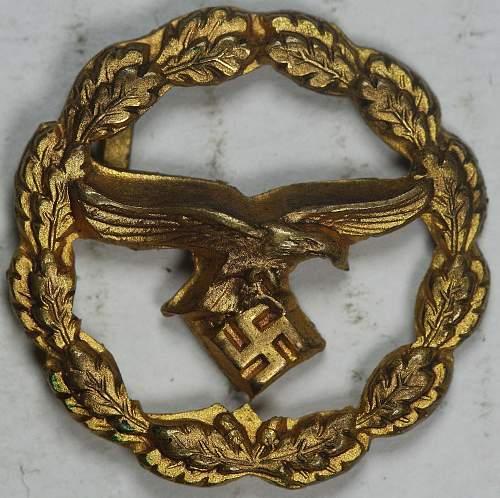 Strange little Luftwaffe Metal Eagle