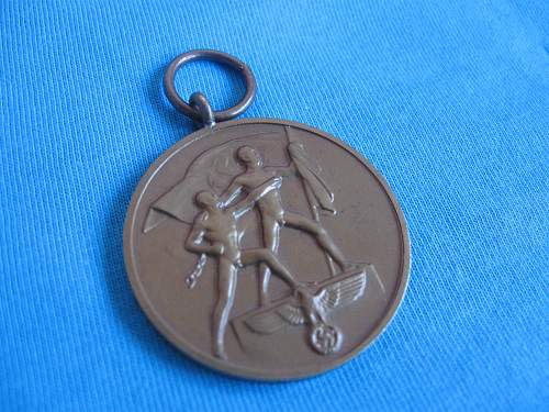 Medaille zur Erinnerung an den 1. Oktober 1938.