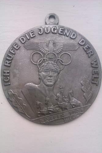 Some sort of Olympics medallion.