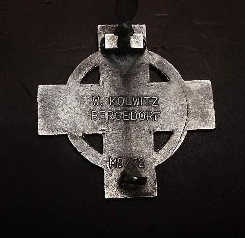 Unfinished Reichsfeuerwehr-ehrenzeichen 1.Stufe ???