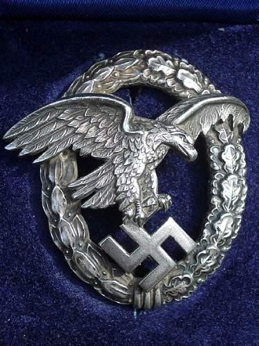 Luftwaffe Beobachterabzeichen.