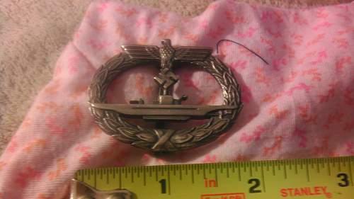 U-Bootskriegsabzeichen. Genuine or fake?