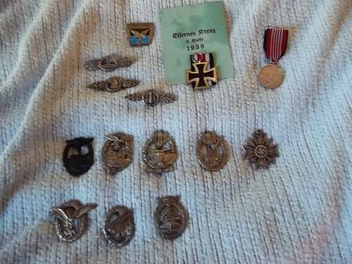 Giant lot of German medals are they real?