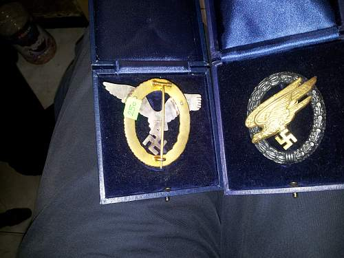LW awards + boxes and German eagle