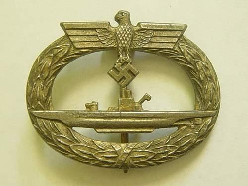 Kriegsmarine U-Boots Kriegsabzeichen
