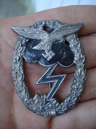 Luftwaffe Erdkampfabzeichen for review