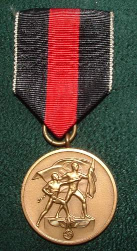 Cased Sudetenland Annexation Medal