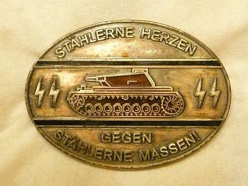 Tank Destroyer Badge Real or Fake?