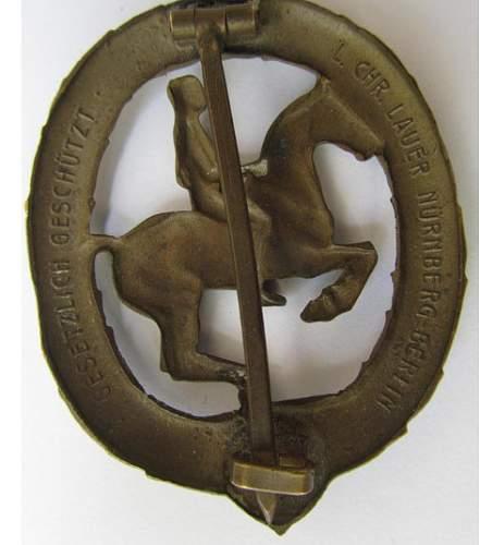 Reiterabzeichen  Horse rider badge?
