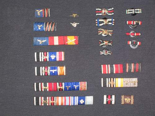 Collection of ribbons