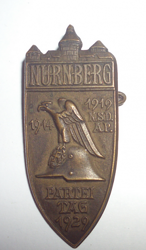 1929 NSDAP Nurnberg Reichs Party Day Badge, Opinions please.